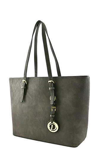 womens-designer-faux-leather-tote-bag-with-rear-zipper-pocket-va2002-grey