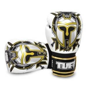 Tuff Muaythai Boxing Training Gloves Gladiator White Leather Free Express Ship taekwondo sanda boxing training target black red size m