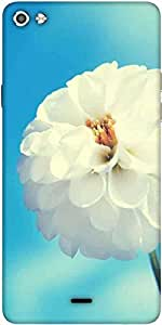 Snoogg Flower White Designer Protective Back Case Cover For Micromax Canvas Silver 5 Q450