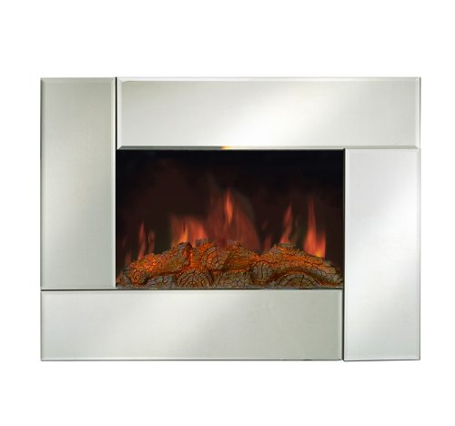 "Why Choose The LED 26"" Wall Mounted Electric Fireplace Heater Remote Control Mirror Glass Panel"