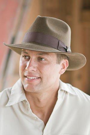 Indiana Jones Fur Felt Fedora Hat Overland Headwear  46b3c3b398c