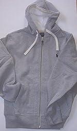 Polo Ralph Lauren Classic Full-Zip Fleece Hooded Sweatshirt - M - Gray