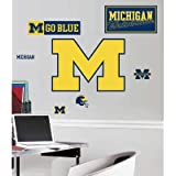 (18x40) University of Michigan Peel & Stick Giant Wall Decals