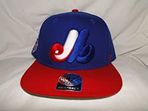 New! MLB Montreal Expos 3D Logo Blue & Red Snapback by