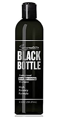 Black Bottle Mens Shampoo - Anti Hair Loss Shampoo For Men -Promotes Hair Growth in Men - DHT Blocker Saw Palmetto Hair Loss Help - (Caffeine & Biotin + Essential Oils & Extracts) - 8.5oz