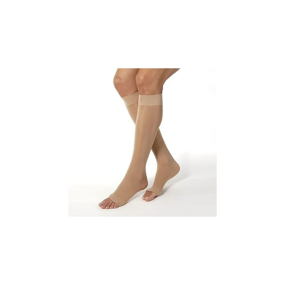 ae49b940128 Jobst Women s Ultra Sheer Moderate Support Open Toe Knee Highs on ...