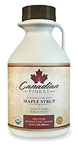 CANADIAN FINEST Maple Syrup | #1 Rated Maple Syrup on Amazon - 100% Pure Certified Organic Maple Syrup from Family Farms in Quebec, Canada - Grade B (B is the Best!) - Lifetime Guarantee