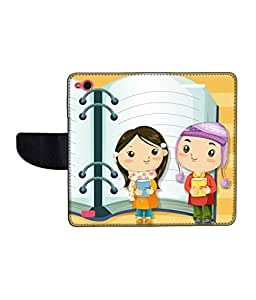 KolorEdge Printed Flip Cover For Gionee Elife E3 Multicolor - (45KeMLogo09679GioneeE3)
