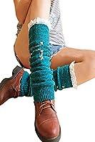 reine à la mode- Bas Guêtre Jambières Legging Chausettes Hiver Chaud Tressé Tricot Femme
