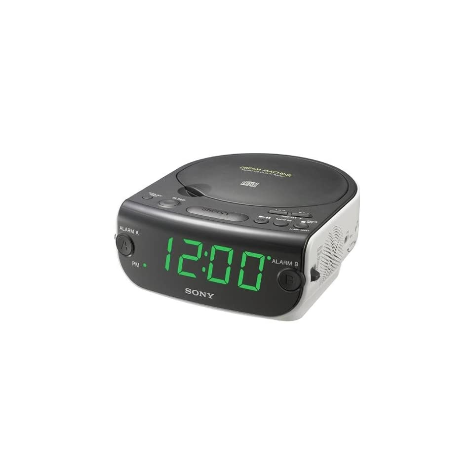 Sony ICF CD814 AM/FM Stereo Clock Radio with CD Player, White (Discontinued by Manufacturer)