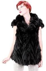 United Face Womens New Fox Rex Fur Vest