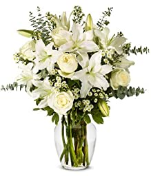 From You Flowers - With All Our Sympathy Lily Arrangement (Free Vase Included)
