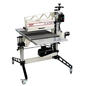 jet 22 44 pro 22 inch 3 horsepower 1ph dro drum sander with table and caster home