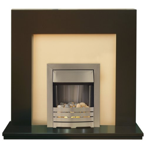 Miami Chocolate Electric Fireplace with Helios Fire