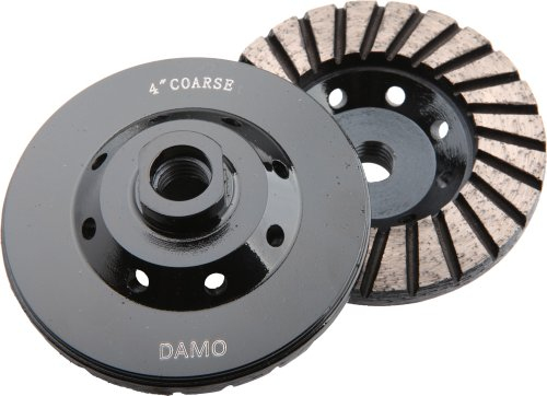 4-Inch Diamond Turbo Grinding Cup Wheel Coarse Grit for Concrete / Granite Floor