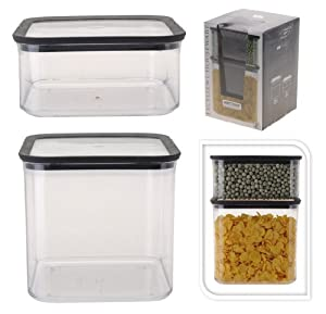 frischhaltedosen aufbewahrungsdosen vorratsdosen set 4 tlg 2 dosen 2 deckel kunststoff von. Black Bedroom Furniture Sets. Home Design Ideas