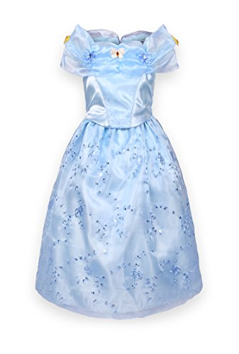 ReliBeauty Girls Butterfly Embroidery Princess Cinderella Costume