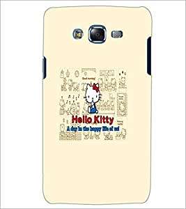 PrintDhaba Hello Kitty D-5516 Back Case Cover for SAMSUNG GALAXY ON 7 (Multi-Coloured)