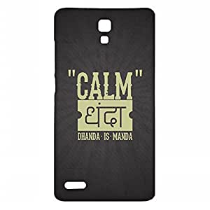 RANGSTER Calm Dhanda-Ophis Ophis Matte Finish Mobile Case For Xiaomi Mi Note 4-Black