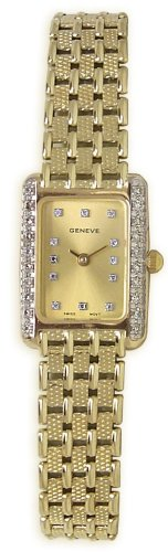Geneve 14K Solid Gold Diamond Womens Watch - W05065