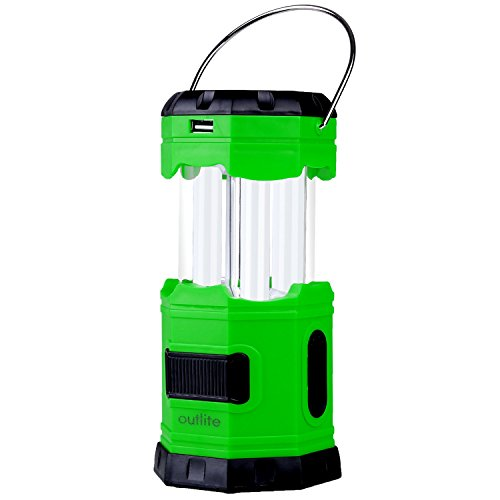 Outlite-180-Lumen-Collapsible-LED-Camping-Lantern-Solar-USB-Rechargeable-Camping-Light-Flashlight-with-2-S-Hook-Portable-Water-resistant-Outdoor-Survival-Lamp-for-Hiking-Emergency-Outages