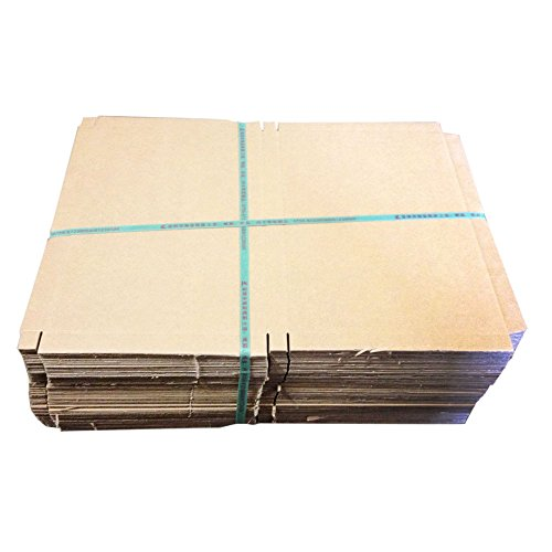 Micromalltm 50Pcs 17.5*10.2*1.5 Inch Cardboard Packing Shipping Corrugated Carton Boxes For Lcd / Led Screen Brown