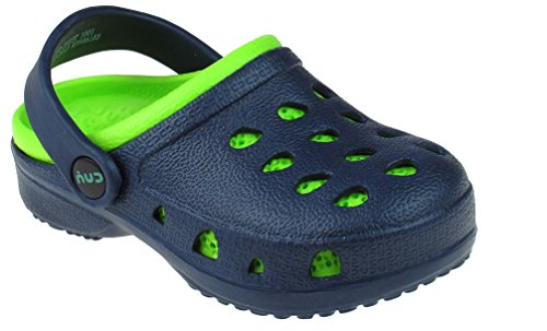 Capelli New York Toddler Boys Injected Eva Two Tone Clog With Backstrap Clog Navy 6/7