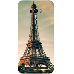 Casotec Eiffel Tower Beautiful Cityscape Design Hard Back Case Cover For Asus Zenfone Selfie ZD551KL