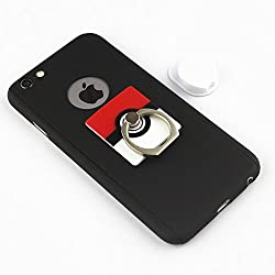 BRILA pokemon cellphone ring grip holder & car cradle, pokeball phone grip stand holder with car mount, 2 in 1 universal ring holder grip stand, poke ball style