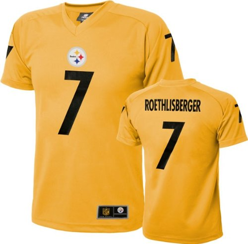 75ea5cbb380 Ben Roethlisberger Pittsburgh Steelers NFL Youth Performance T-shirt Jersey  Gold at SteelerMania