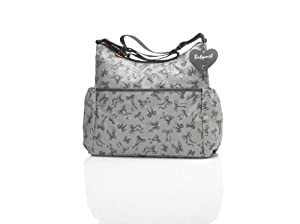Babymel Big Slouchy Tote Bag, Grey/Grey Print from Babymel