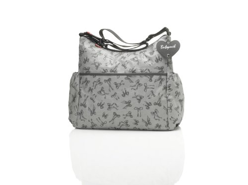 Babymel Big Slouchy Tote Bag, Grey/Grey Print