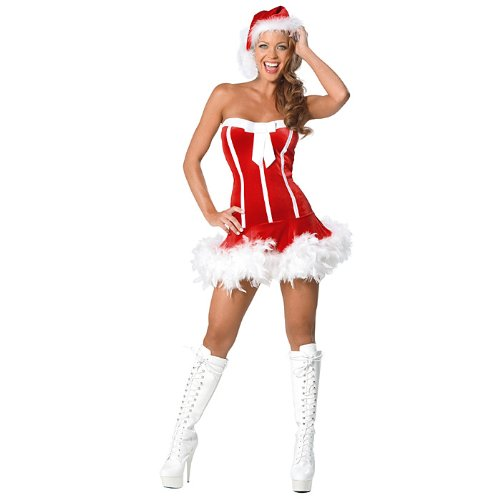 Sweet Santa Skimpy Holiday Outfit Womens Costume