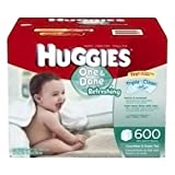 Huggies One & Done Refreshing Baby Wipes, Refill, 552 Total Wipes 184-Count Pack (Pack of 3), Packaging may vary
