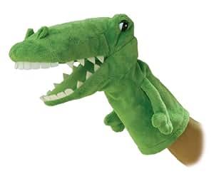"""Aurora Plush 10"""" Alligator hand puppet"""