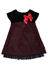 Soul Fairy Girls' Dress (CHRDRSVLV21C_Black Red_7-8 Years)