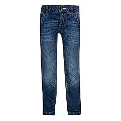 Tickle Girls Kid's Jeans(TIJN0000185A-2-3 Y_Blue_2-3 Y)