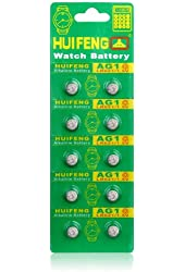 Klix(TM) 10 Pcs AG10 Battery LR1130 SR1130 389 189 G10 Watch Cell Package