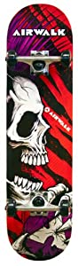 Buy Airwalk Shredder Untamed Skateboard Deck, Black with Red, White and Purple by Airwalk