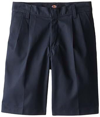 Dickies Big Boys' Pleated Front Short - School Uniform,Dark Navy,8 Regular
