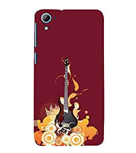 Music Guitar 3D Hard Polycarbonate Designer Back Case Cover for HTC Desire 826::HTC Desire 826 Dual Sim::HTC Desire 826 DS (GSM + CDMA)