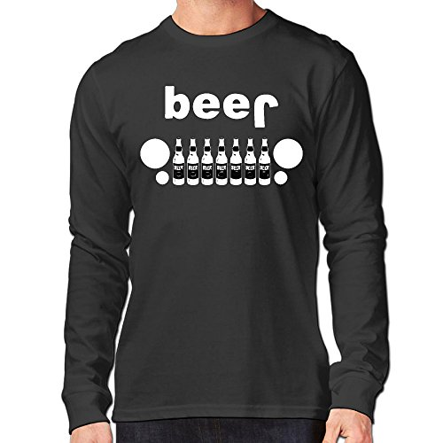 Classic Men's Beer Jeep Long Sleeve Shirt