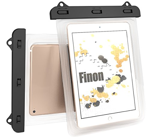 Finon(フィノン)[30日間交換/返金保証]7-10inch WATERPOF CASE/ 7-10インチ 防水ケースクリア 防水ケース ネックストラップ(首掛け付き) iPad Pro9.7インチ/ipad 2/3/4 Air1/2/ipad mini/2/3/4/ ARROWS Tab/dtab/ASUS/Xperia tablet/Amazon Fire/Fire HD/ 記載以外も対応Wat10C