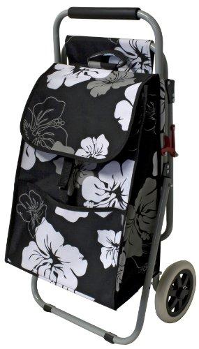 Pekl Einkaufstrolley mit ausklappbarem Sitz geblümt