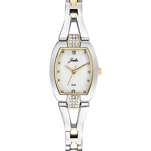 Joalia-634600-Orologio da donna con cinturino in metallo con quadrante, in madreperla, colore: bicolore