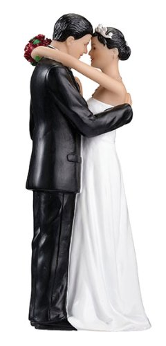 Hispanic Couple Figurine Wedding Cake Topper