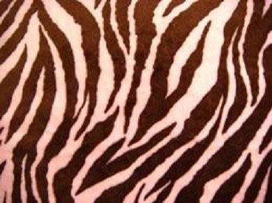 Pink Zebra Baby Blanket front-171089