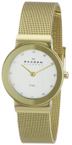 Skagen Women's Gold Tone Mesh Band Watch 358SGGD