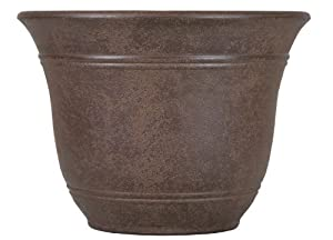 Listo 13-Inch Sierra Planter, Chestnut Brown
