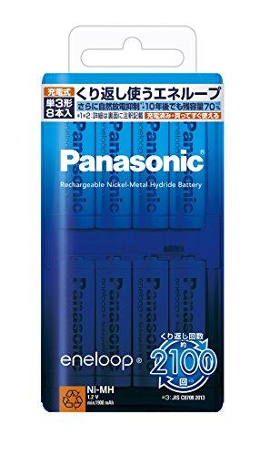 パナソニック eneloop 単3形充電池 8本パック スタンダードモデル ...